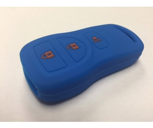 Blue 3 Button Key Fob Cover