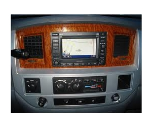 Laramie Woodgrain and Satin Silver Navigation Radio Bezel