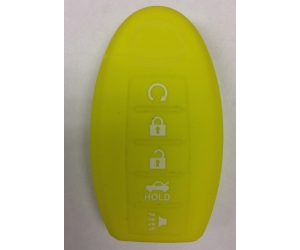 Yellow 5 Button Intelligent Key Fob Cover