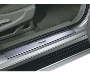 Front Jeep Logo Door Entry Guards