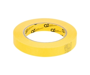 Q1 - 3/4 inch (18mm X 55m) Yellow Masking Tape