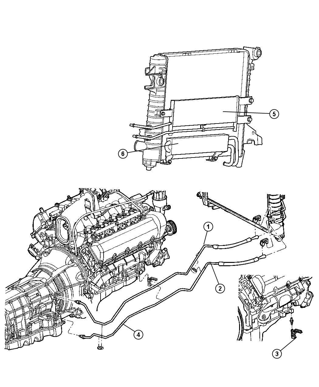 52028924AF | Dodge Ram 1500 Transmission Cooler Pressure ...