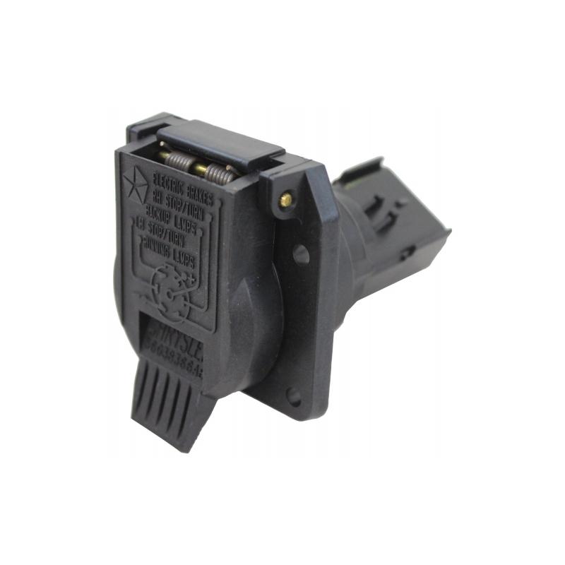 7 Way Trailer Plug With Round Connectors Mopar Does It