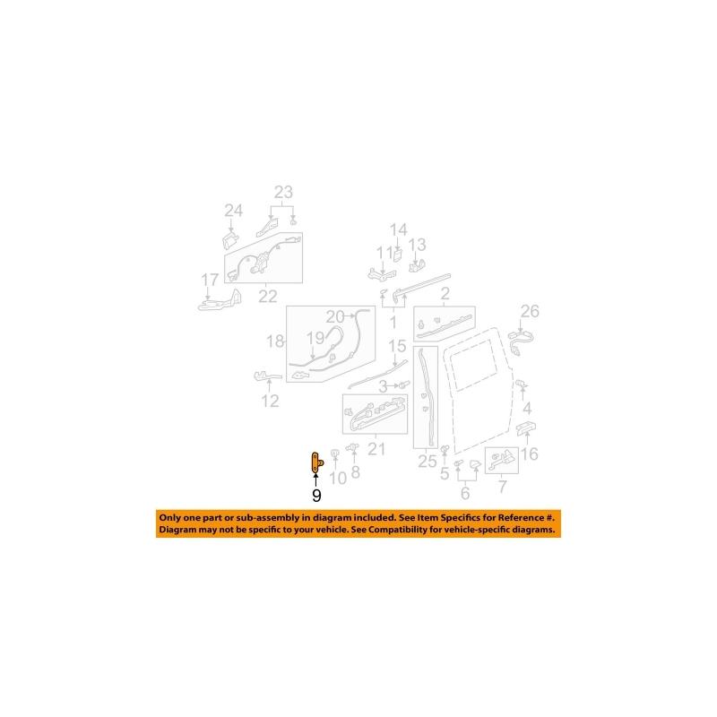 HONDA OEM 05-10 Odyssey Side Sliding Door-Stopper 72506SHJA01
